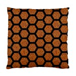 HEXAGON2 BLACK MARBLE & RUSTED METAL Standard Cushion Case (Two Sides) Back