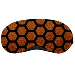 HEXAGON2 BLACK MARBLE & RUSTED METAL Sleeping Masks Front