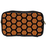 HEXAGON2 BLACK MARBLE & RUSTED METAL Toiletries Bags 2-Side Front