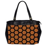 HEXAGON2 BLACK MARBLE & RUSTED METAL Office Handbags (2 Sides)  Front