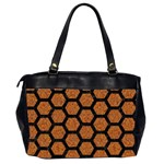HEXAGON2 BLACK MARBLE & RUSTED METAL Office Handbags (2 Sides)  Back