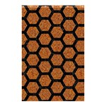 HEXAGON2 BLACK MARBLE & RUSTED METAL Shower Curtain 48  x 72  (Small)  42.18 x64.8 Curtain