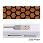 HEXAGON2 BLACK MARBLE & RUSTED METAL Memory Card Reader (Stick)  Front