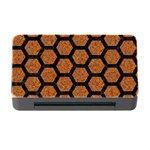HEXAGON2 BLACK MARBLE & RUSTED METAL Memory Card Reader with CF Front