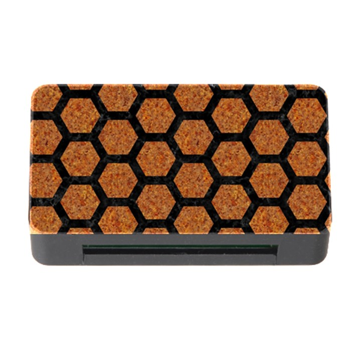 HEXAGON2 BLACK MARBLE & RUSTED METAL Memory Card Reader with CF