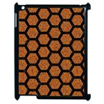 HEXAGON2 BLACK MARBLE & RUSTED METAL Apple iPad 2 Case (Black) Front