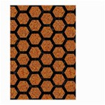 HEXAGON2 BLACK MARBLE & RUSTED METAL Small Garden Flag (Two Sides) Front