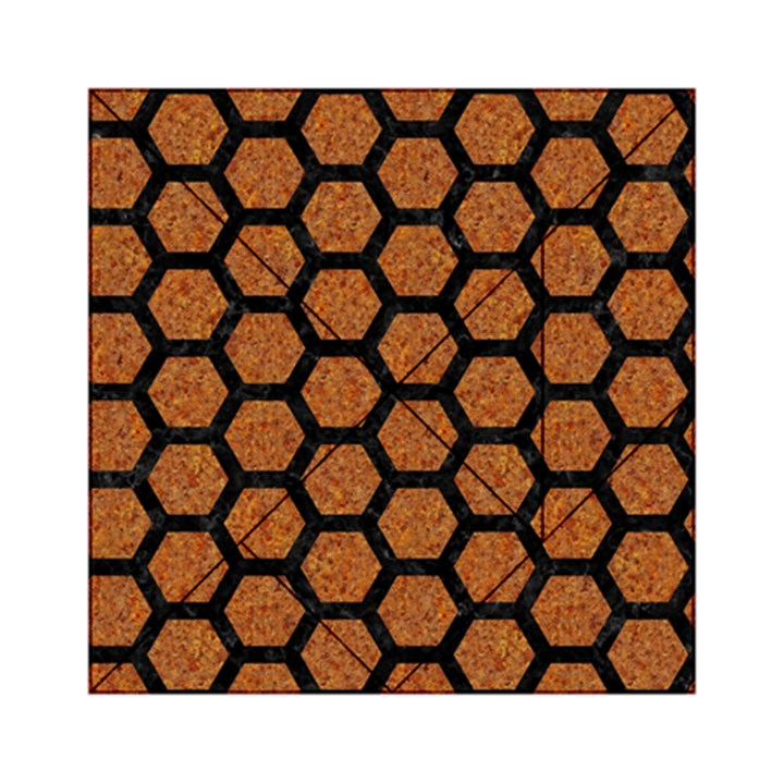 HEXAGON2 BLACK MARBLE & RUSTED METAL Acrylic Tangram Puzzle (6  x 6 )