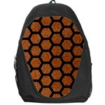HEXAGON2 BLACK MARBLE & RUSTED METAL Backpack Bag Front