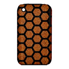 Hexagon2 Black Marble & Rusted Metal Iphone 3s/3gs