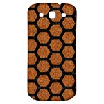 HEXAGON2 BLACK MARBLE & RUSTED METAL Samsung Galaxy S3 S III Classic Hardshell Back Case Front