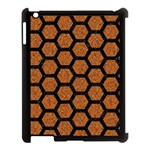 HEXAGON2 BLACK MARBLE & RUSTED METAL Apple iPad 3/4 Case (Black) Front