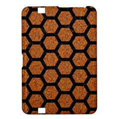 Hexagon2 Black Marble & Rusted Metal Kindle Fire Hd 8 9