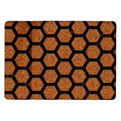 Hexagon2 Black Marble & Rusted Metal Samsung Galaxy Tab 10 1  P7500 Flip Case