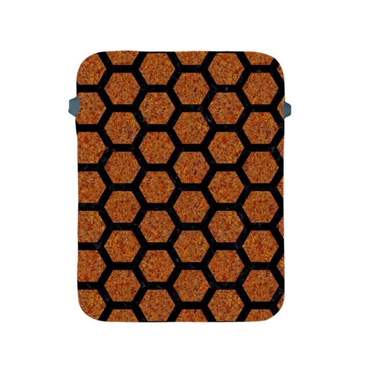 HEXAGON2 BLACK MARBLE & RUSTED METAL Apple iPad 2/3/4 Protective Soft Cases
