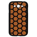 HEXAGON2 BLACK MARBLE & RUSTED METAL Samsung Galaxy Grand DUOS I9082 Case (Black) Front