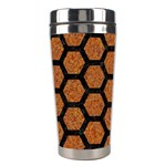 HEXAGON2 BLACK MARBLE & RUSTED METAL Stainless Steel Travel Tumblers Right