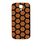 HEXAGON2 BLACK MARBLE & RUSTED METAL Samsung Galaxy S4 I9500/I9505  Hardshell Back Case Front