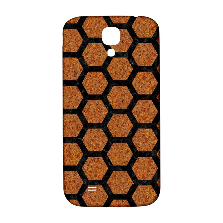 HEXAGON2 BLACK MARBLE & RUSTED METAL Samsung Galaxy S4 I9500/I9505  Hardshell Back Case