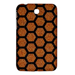 Hexagon2 Black Marble & Rusted Metal Samsung Galaxy Tab 3 (7 ) P3200 Hardshell Case