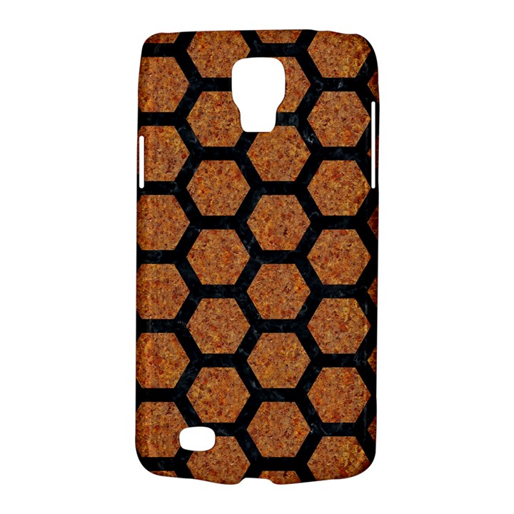 HEXAGON2 BLACK MARBLE & RUSTED METAL Galaxy S4 Active