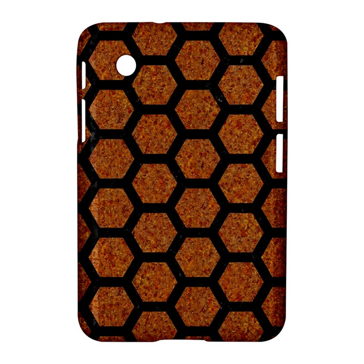 HEXAGON2 BLACK MARBLE & RUSTED METAL Samsung Galaxy Tab 2 (7 ) P3100 Hardshell Case