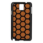 HEXAGON2 BLACK MARBLE & RUSTED METAL Samsung Galaxy Note 3 N9005 Case (Black) Front