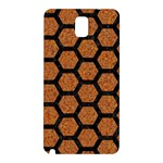 HEXAGON2 BLACK MARBLE & RUSTED METAL Samsung Galaxy Note 3 N9005 Hardshell Back Case Front