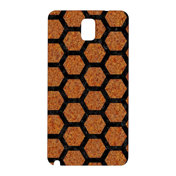 HEXAGON2 BLACK MARBLE & RUSTED METAL Samsung Galaxy Note 3 N9005 Hardshell Back Case