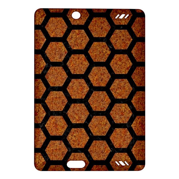 HEXAGON2 BLACK MARBLE & RUSTED METAL Amazon Kindle Fire HD (2013) Hardshell Case