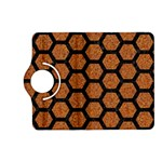 HEXAGON2 BLACK MARBLE & RUSTED METAL Kindle Fire HD (2013) Flip 360 Case Front