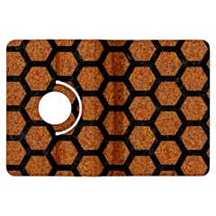 Hexagon2 Black Marble & Rusted Metal Kindle Fire Hdx Flip 360 Case