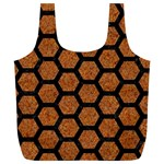 HEXAGON2 BLACK MARBLE & RUSTED METAL Full Print Recycle Bags (L)  Front