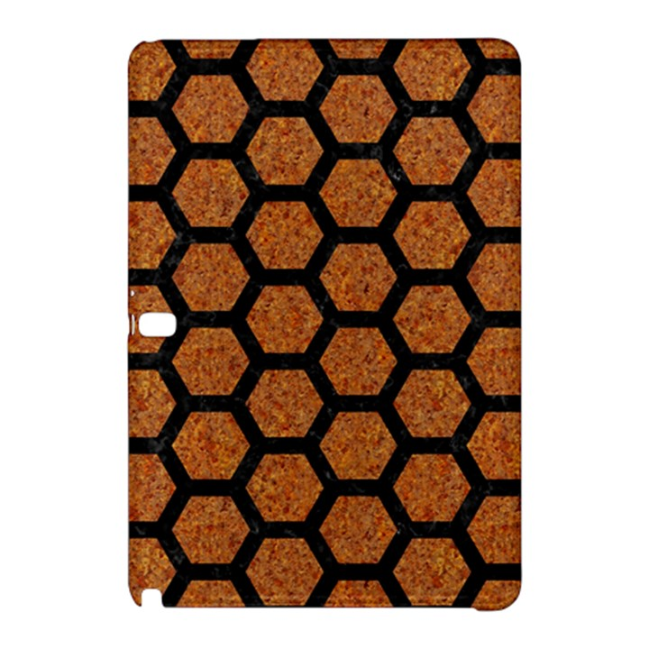 HEXAGON2 BLACK MARBLE & RUSTED METAL Samsung Galaxy Tab Pro 12.2 Hardshell Case