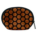 HEXAGON2 BLACK MARBLE & RUSTED METAL Accessory Pouches (Medium)  Back