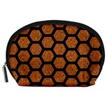 HEXAGON2 BLACK MARBLE & RUSTED METAL Accessory Pouches (Large)  Front