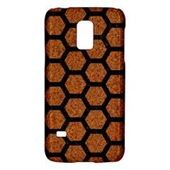 Hexagon2 Black Marble & Rusted Metal Galaxy S5 Mini
