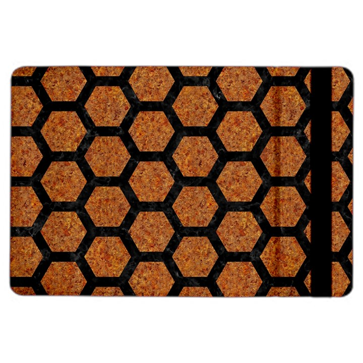HEXAGON2 BLACK MARBLE & RUSTED METAL iPad Air 2 Flip