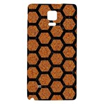 HEXAGON2 BLACK MARBLE & RUSTED METAL Galaxy Note 4 Back Case Front