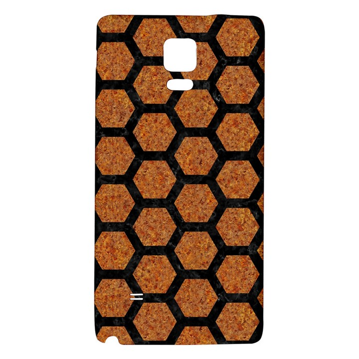 HEXAGON2 BLACK MARBLE & RUSTED METAL Galaxy Note 4 Back Case