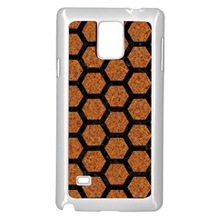 Hexagon2 Black Marble & Rusted Metal Samsung Galaxy Note 4 Case (white)