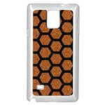 HEXAGON2 BLACK MARBLE & RUSTED METAL Samsung Galaxy Note 4 Case (White) Front