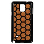 HEXAGON2 BLACK MARBLE & RUSTED METAL Samsung Galaxy Note 4 Case (Black) Front