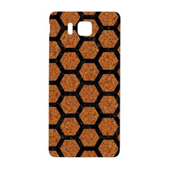 Hexagon2 Black Marble & Rusted Metal Samsung Galaxy Alpha Hardshell Back Case