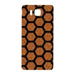 HEXAGON2 BLACK MARBLE & RUSTED METAL Samsung Galaxy Alpha Hardshell Back Case Front