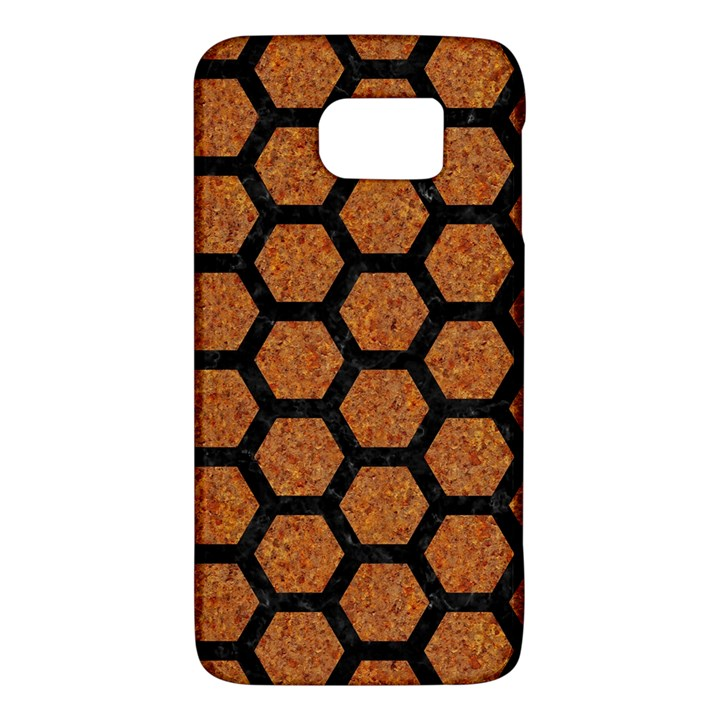 HEXAGON2 BLACK MARBLE & RUSTED METAL Galaxy S6