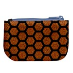 HEXAGON2 BLACK MARBLE & RUSTED METAL Large Coin Purse Back