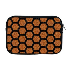 Hexagon2 Black Marble & Rusted Metal Apple Macbook Pro 17  Zipper Case