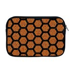 HEXAGON2 BLACK MARBLE & RUSTED METAL Apple MacBook Pro 17  Zipper Case Front