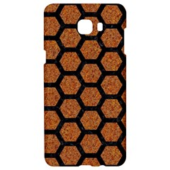 Hexagon2 Black Marble & Rusted Metal Samsung C9 Pro Hardshell Case